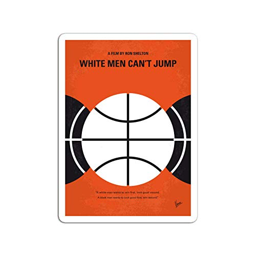 BreathNenStore Sticker Motion Picture No436 My White Men Cant Jump Minimal Movie Blac Movies Video Film (3