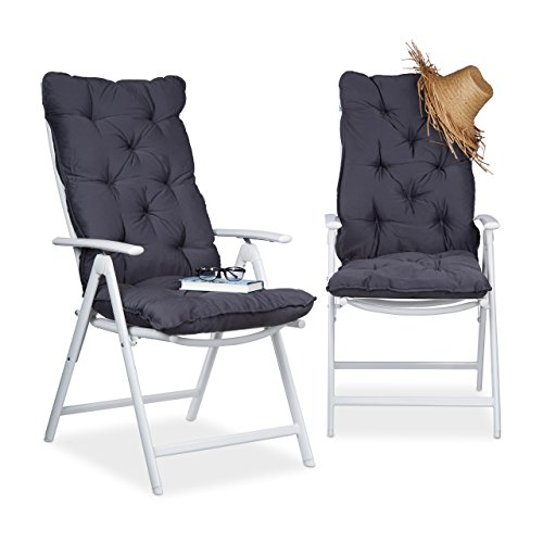 Relaxdays Juego de Cojines para sillón de Exterior ...