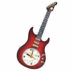 GARASANI Vintage Wall Clock Guitar Electric Guitar Wall Clock Decor Bedroom Living Room Clocks 15.3 x 5.5 x 1.1 Inches