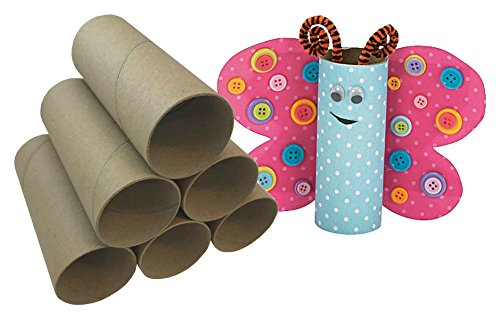 Craft Rolls, Toilet Paper Cores for Crafts, DIY Cardboard Tubes (Pack of 24)
