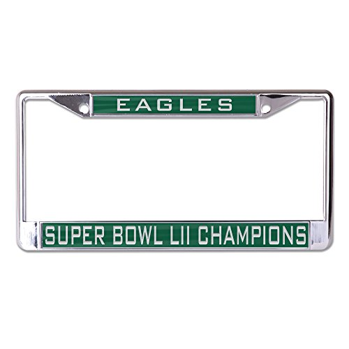 (Philadelphia Eagles Super Bowl LII Champions Metal Inlaid License Plate Frame Acrylic die-cut graphics)