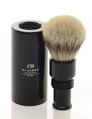 St James Travel Super Badger Hair Brush Ebony by St James of London