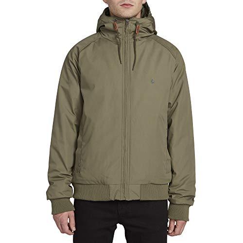 Volcom Men's Hernan Teflon Heavy Weight Hooded Jacket, Army Green Combo, Small