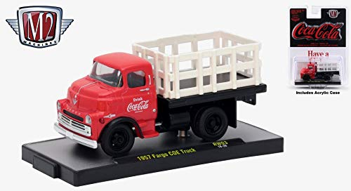 M2 Machines 1957 Fargo COE Truck Coca-Cola Release RW03H - 2018 Castline Hobby Edition 1:64 Scale Die-Cast Vehicle Set (RW03 18-20)