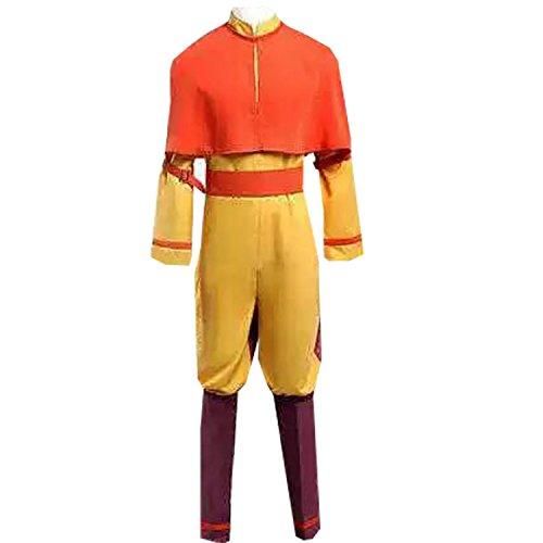 MYYH Adult Aang Cosplay Costume Uniform Halloween Cosplay -