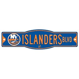 NHL New York Islanders Sign, 4.5 x 17-Inch