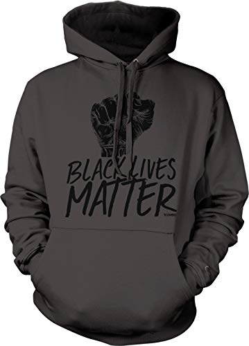 Black Lives Matter - Revolution Movement Unisex Hoodie Sweatshirt (Charcoal, Large)