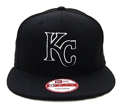 Kansas City Royals New Era Black Logo White Outline Snapback Cap Hat Black