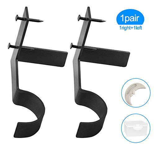 (Yoaokiy Single Curtain Rod Holders Set, 1Pair, Curtain Rod Brackets Tap Right Into Window Frame for Window Bedroom Home Decoration (Black))