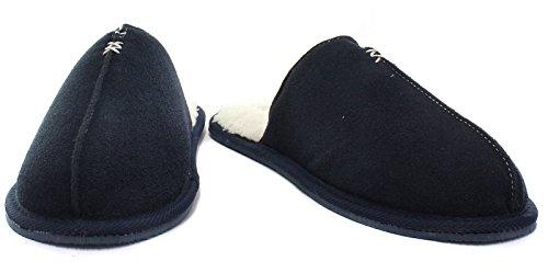 Dunlop Amadieu Menns Mule Tøfler Navy