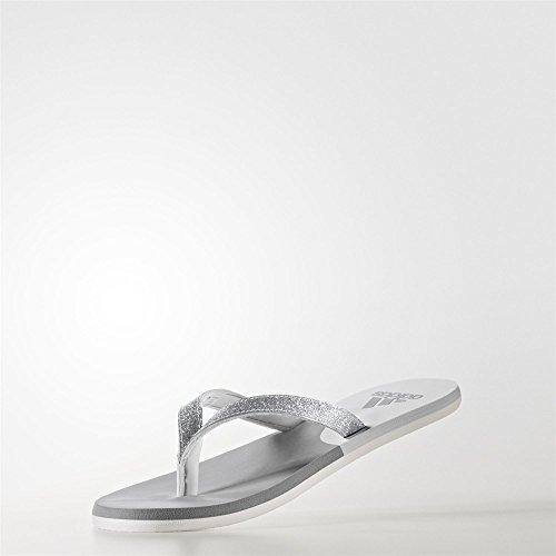adidas Eezay Glitter W, Zapatillas de Running para Mujer Multicolor (Grey Three F17/matte Silver/grey One F17)