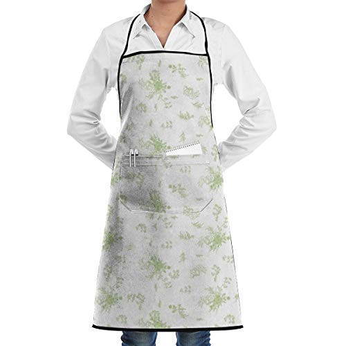 xiaolang Kitchen Aprons Gone with The Wind - Scarlett O'Hara BBQ Dress Small_29867 Adjustable Bib Apron with Pockets 28.3x20.5inch
