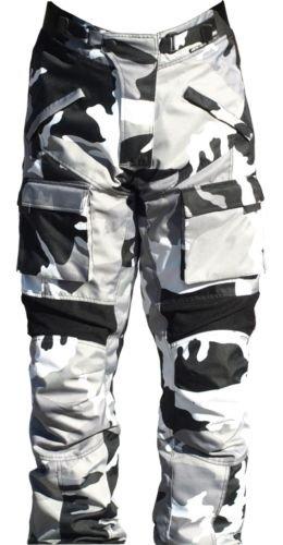 Ash Motorcycle GREY camo pants cordura textile SIZE - Bike Textile