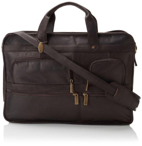 Brief Zip Bag Top - David King & Co. Top Zip Brief, Cafe, One Size