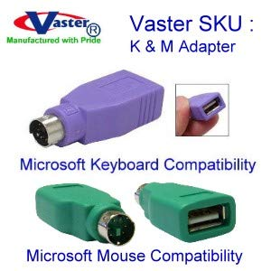 NEW 2x USB Female to PS//2 Male Converter Adapter for Computers Mouse Keyboard