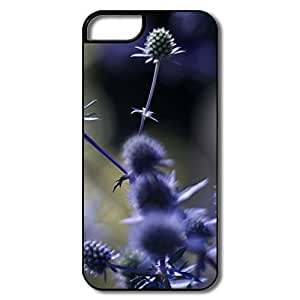IPhone 5 5S Covers, Purple Plant White/black Cases For IPhone 5/5S