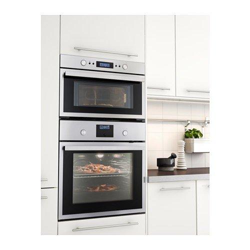Ikea raffinerad Microondas de acero inoxidable; (1000 W): Amazon.es: Hogar