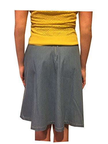 King Louie Damen Jeansrock Delphi Skirt Chambray 02828