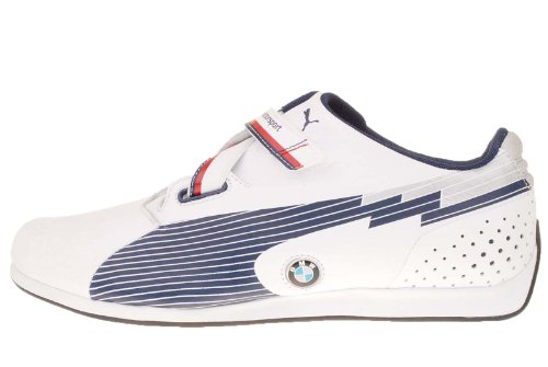 Puma evoSPEED Low BMW 304175 01 Mens Sneakers white-medieval blue, UK 10.5 / EU 45