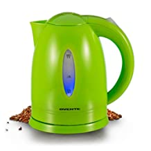 Ovente KP72G 1.7 Liter BPA Free Cordless Electric Kettle, Green