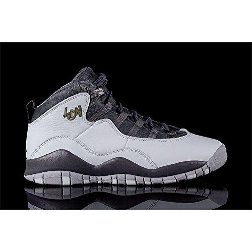 Air Jordan 10 Retro BG City Pack London youth lifestyle sneakers platinum NEW size US 6Y (New Air Jordan Sneakers)