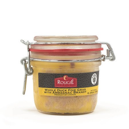 Rougie Whole Duck Foie Gras in Aspic with Armagnac Brandy in Mason Jar from France - 6.34 oz