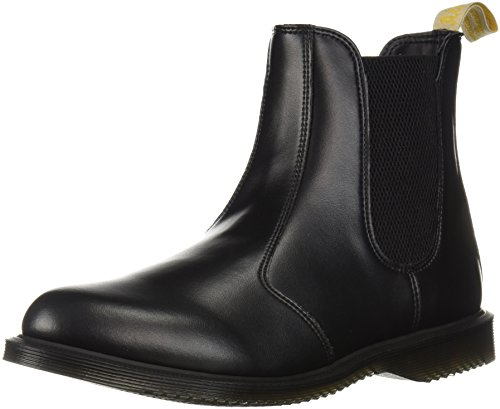 Dr. Martens Women's Vegan Flora Chelsea Ankle Boot, Black 6 Medium UK (8 US)