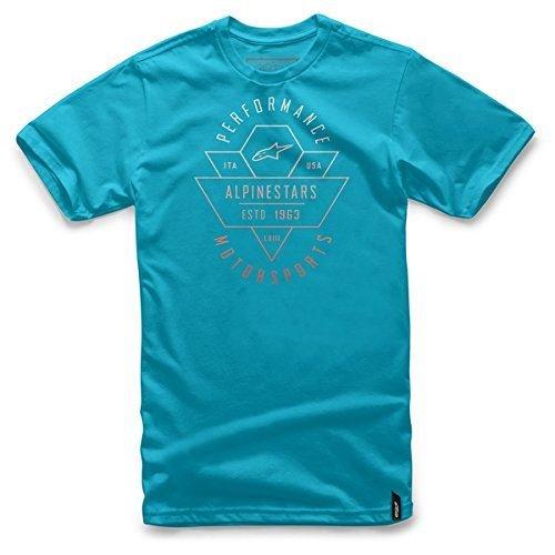 [Alpinestars Mens Chevron Short-Sleeve Shirt X-Large Turquoise] (Alpinestars Apparel)