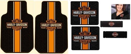 Amazon harley davidson classic 4 pc floor mat seat belt amazon harley davidson classic 4 pc floor mat seat belt sholder pad 1 pair automotive tyukafo