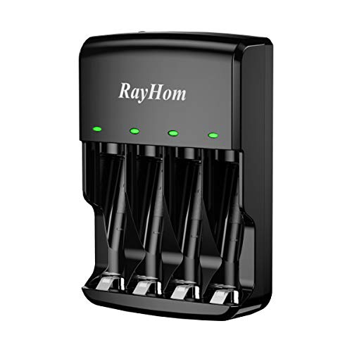 RayHom AA AAA Battery Charger - for Ni-MH Ni-CD Rechargeable Batteries