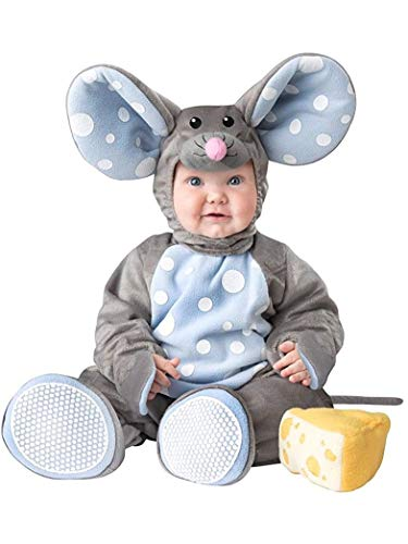 Fun World Baby Lil' Mouse Costume, Grey Light Blue, XS]()