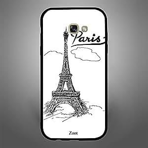 Samsung Galaxy A7 2017 Doodle Eiffel Tower