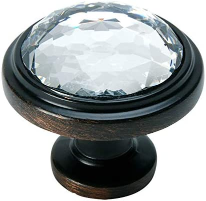 *10 Pack* Cosmas 6393ORB-A Oil Rubbed Bronze with Amber Glass Cabinet Pull