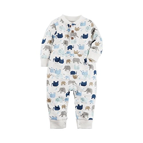 Carter's Baby Boys' Elephant French Terry Jumpsuit 9 (French Terry Jumpsuit)