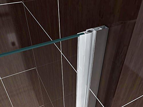 CADENTRO Porte de Douche Pliante en Verre de s/écurit/é Transparent 116x190 cm