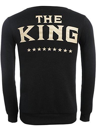 Teamyy Sudadera Camiseta Top de Manga Larga para Pareja Hombre y Mujer King and Queen El Rey y La Reina novio