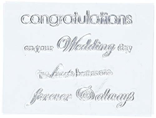 Kaisercraft 3-Inch by 5-Inch Wedding Words Mini Clear Stamps, Contains 5 Sheets]()