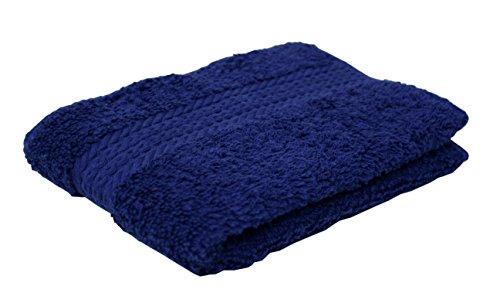 J&M Home Fashions, 100% Cotton Towels, Soft and Absorbent, Commercial Bulk Set, 13x13, 144-Piece, Royal Blue