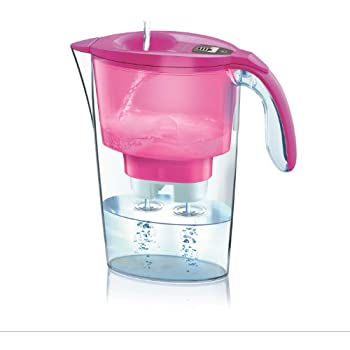 Laica Stream Water Filter Pitcher with Bi-flux MineralBalance Filter System, J435H Fuchsia