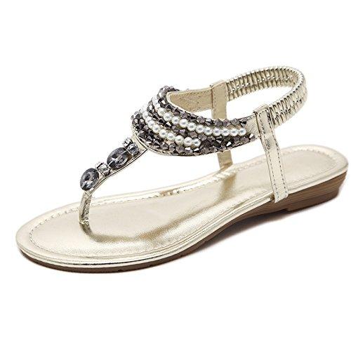 39 Sauvages Femmes Perles Sandales Confortables Plage Bohmes Loisirs Corenne Version Chaussures De Des Avec Nouvelle La 2018 1gqaUgnP