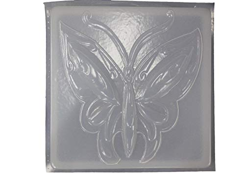 Huge Butterfly 12in Square Concrete or Plaster Stepping Stone Mold ()