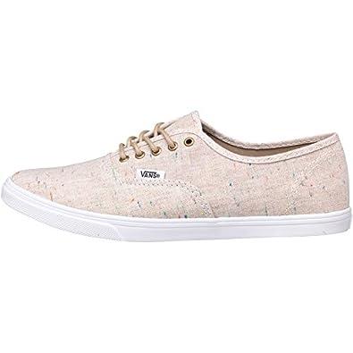 Vans Womens Authentic Lo Pro Speckle Linen Tan (UK 6 Euro 39)