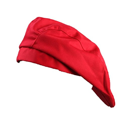 Elevin(TM)Stylish Men Women Chef Hat Catering Baker Kitchen Cook Duckbill Beret Golf Caps (D) (Womens Cook Cap)