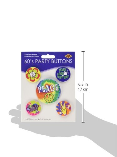 60 39 S Party Buttons Asstd Designs 5 Pkg Buy Online In