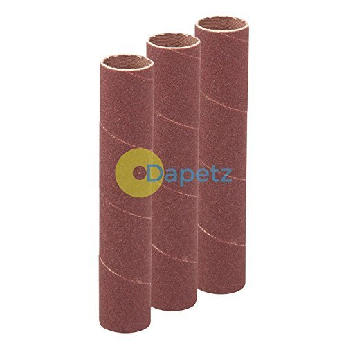 Daptez ® 114mm Bobbin Sleeves 3Pk -19mm 120 Grit Sanding Curves Bends Spindle DIY Dapetz