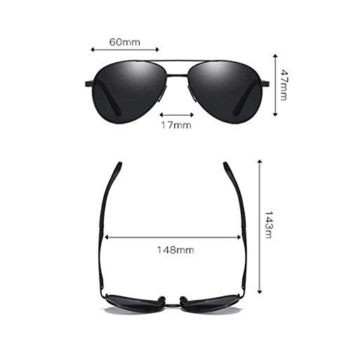 Boy Metal de fish de de Hombres los de polarizada Marco Manera Doble Gafas Sol Sol la 1 Color de Eyewear los vidrios Coolsir Gafas luz EqEarY