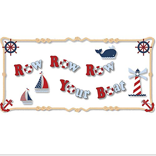 Nautical Row Your Boat Quote Removable Vinyl Wall Sticker Sa