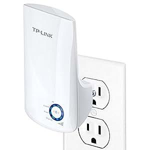 TP-LINK TL-WA850RE Extensor universal de cobertura inalámbrica, enchufe de pared, tipo conecte y use (Plug&Play), Wi-Fi 300 Mbps, puerto de Ethernet, luz indicador de señal inteligente