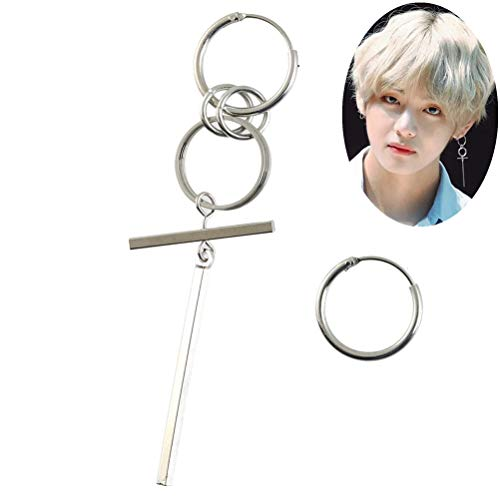 - YYOOM Unisex Bangtan Boy Album BTS JIMIN Stud Earring 1 Pair