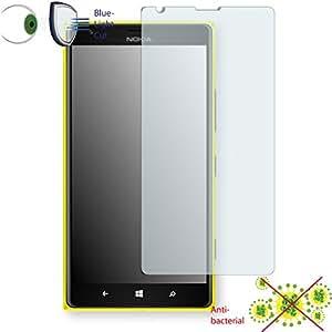 Película de protección de pantalla DISAGU ClearScreen para Nokia Lumia 1520 antibacterial, filtro BlueLightCut película de protección (Intencionadamente es más pequeña que la pantalla ya que esta es curva)